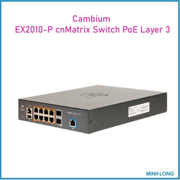 Cambium EX2010 P cnMatrix Switch PoE Layer 3 3